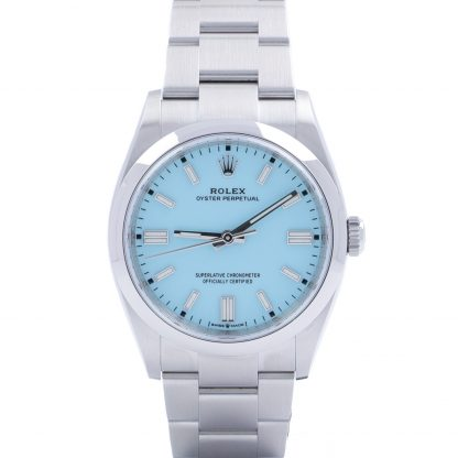 """Rolex Oyster Perpetual 36 126000 Turquoise Blue """"Tiffany"""" Unworn 2021"""